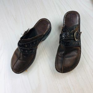 BOC leather mules clogs size 8